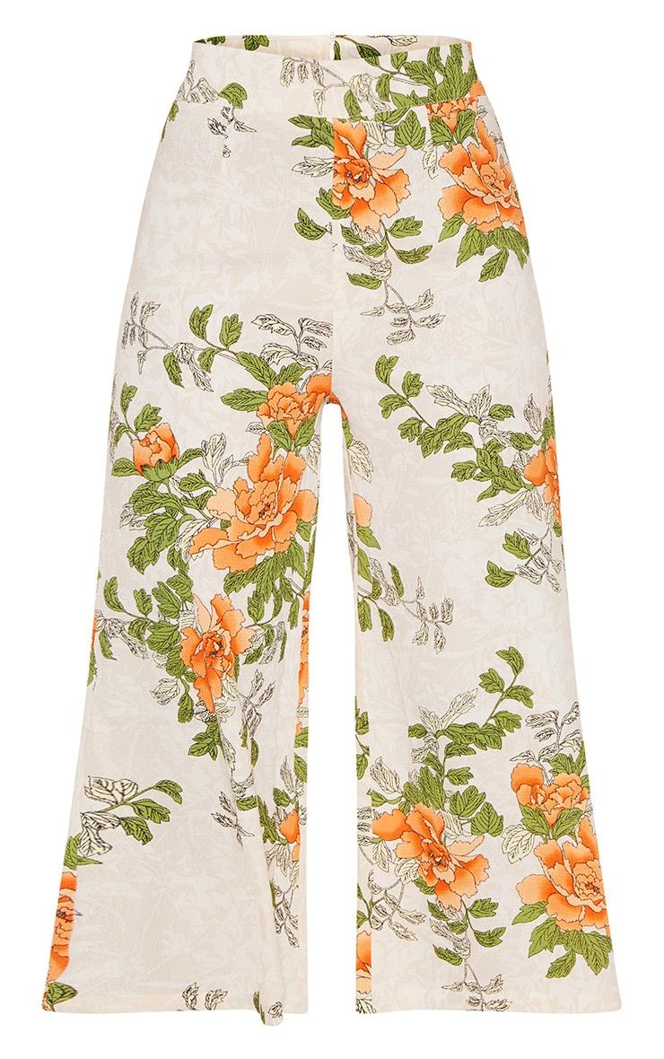 Cream Floral Printed Culotte 3