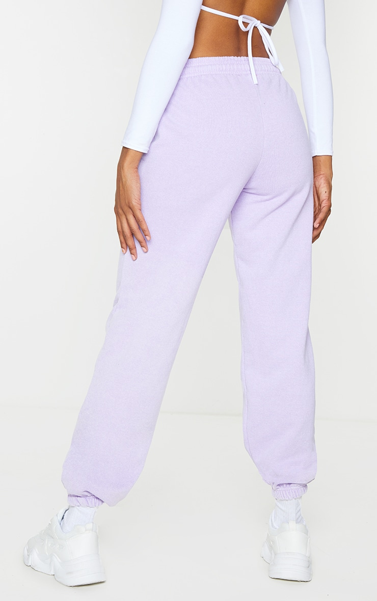 Lilac Washed Effect Casual Joggers 3