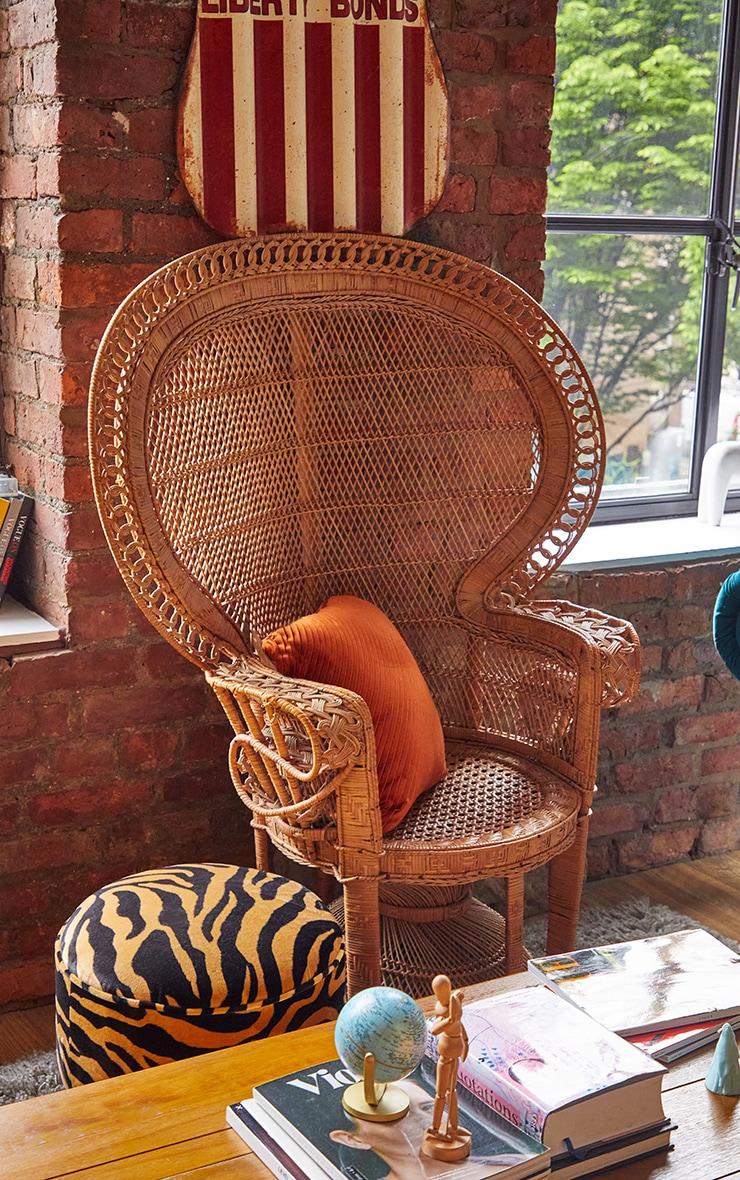 Rust Velvet Diagonal Stripe Cushion 3