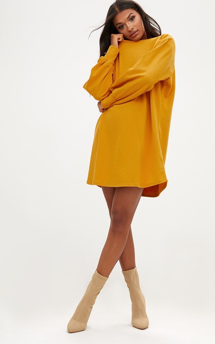 Mustard Oversized Sweater Dress 4