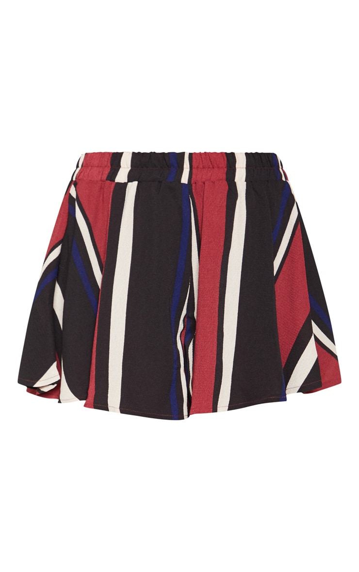 Berry Stripe Floaty Shorts 3