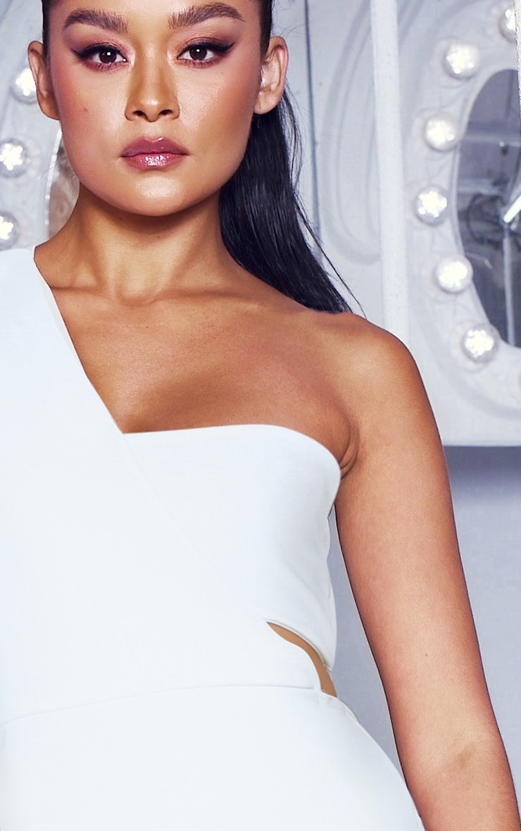 White One Shoulder Bodycon Dress 4