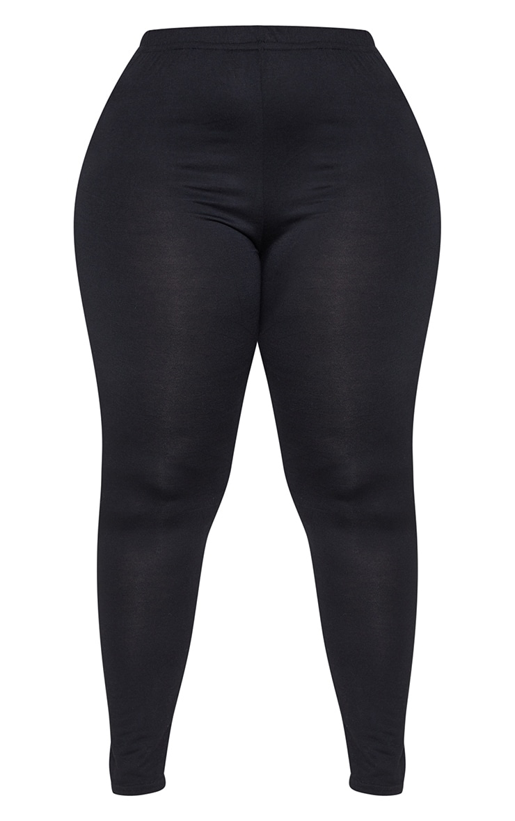 Plus Black Jersey Leggings 3