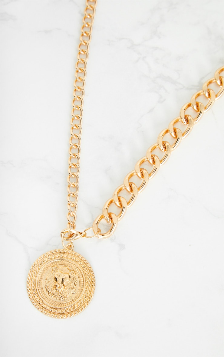 Gold Lion Pendant Drop Chain Belt 5