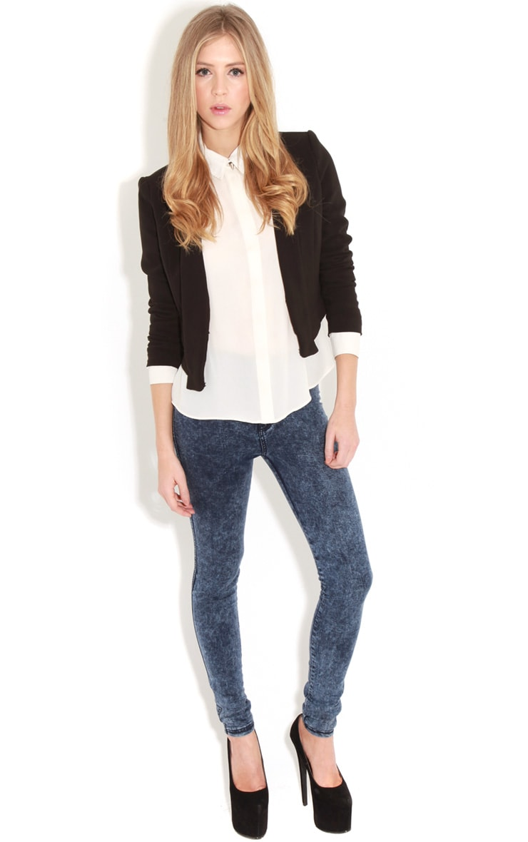 Eadie Black Cropped Blazer  3