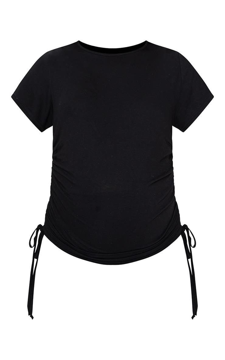 Maternity Black  Ruched Bump T Shirt 5