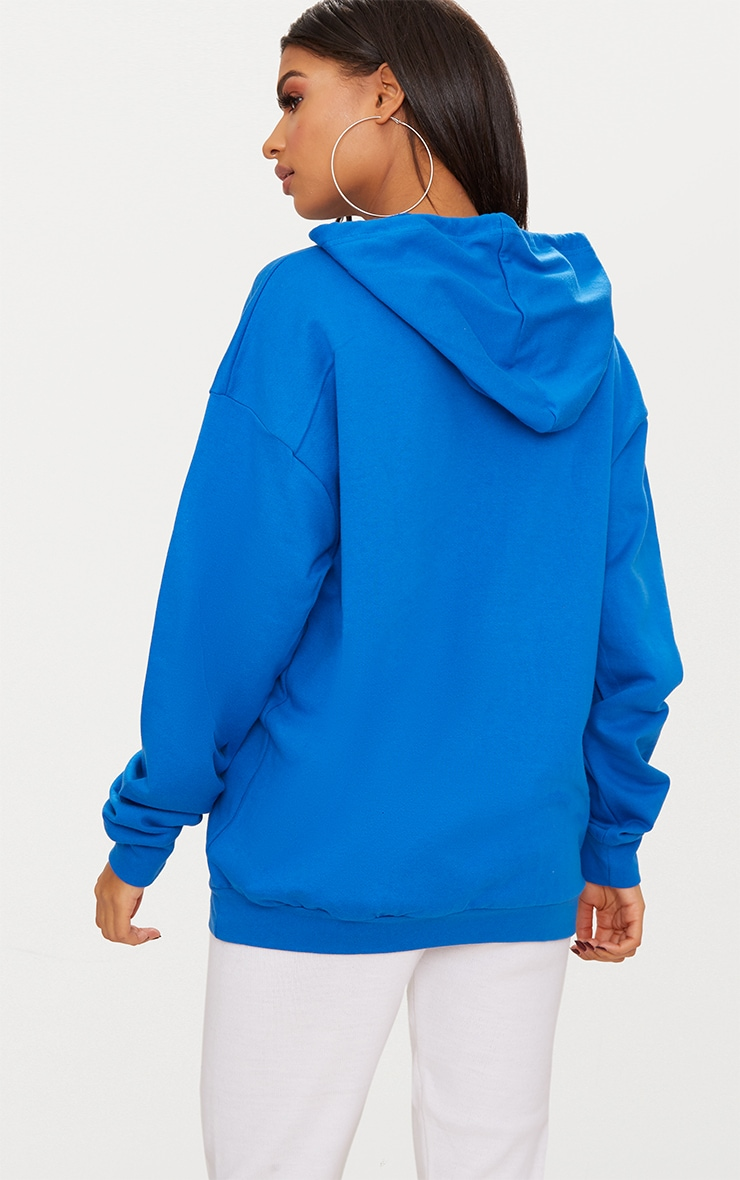Cobalt Blue Oversized Hoodie 2