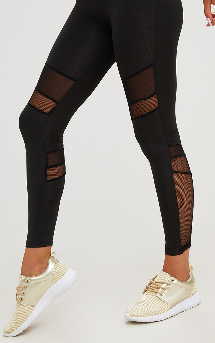 Black Stripe Leggings  6