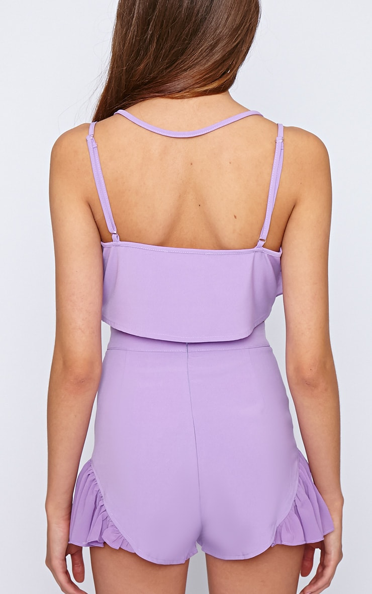 Tessa Purple Chiffon Frill Crop  2