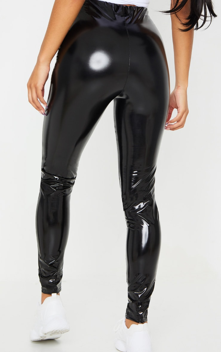 Black Vinyl Skinny Pants 3