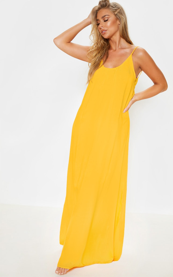 Orange Low Back Oversized Maxi Beach Dress  1