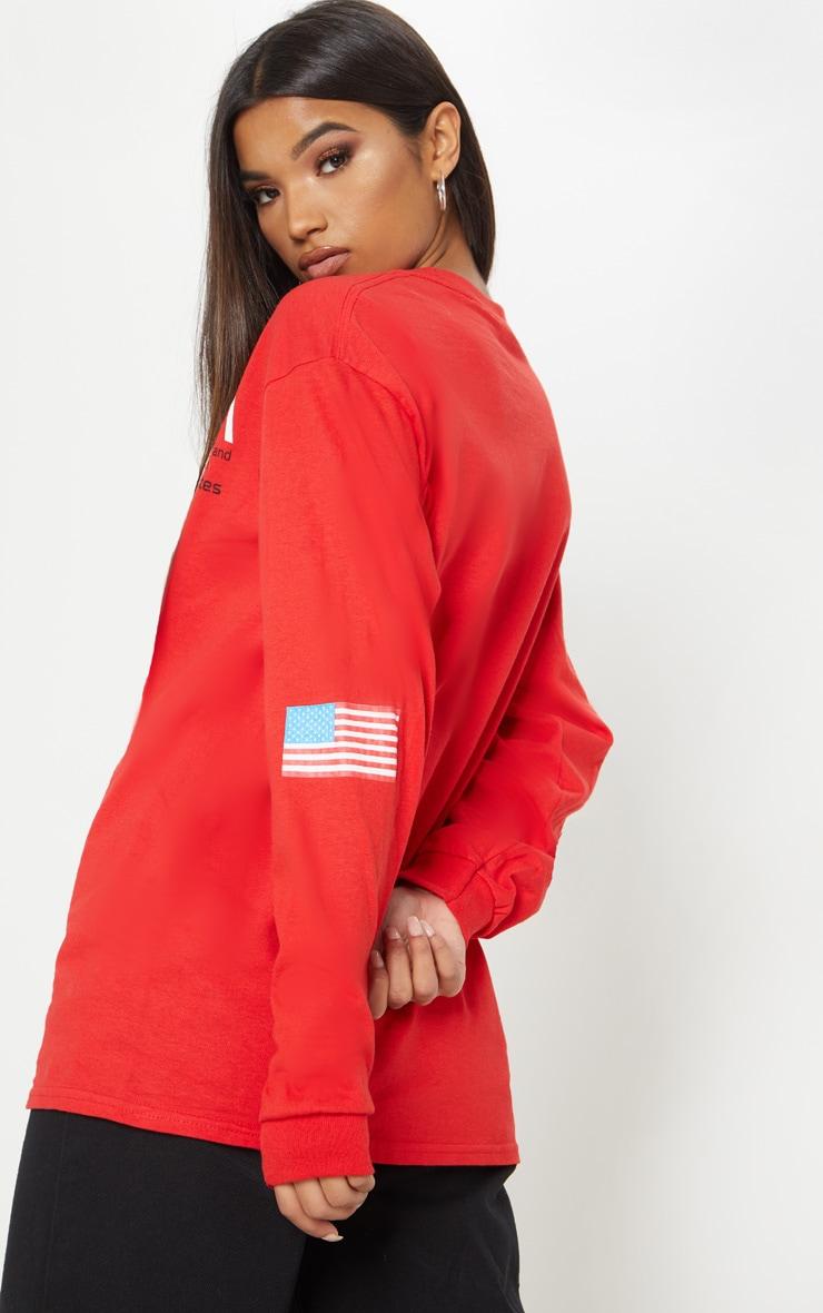 Red NASA Long Sleeve T shirt 2
