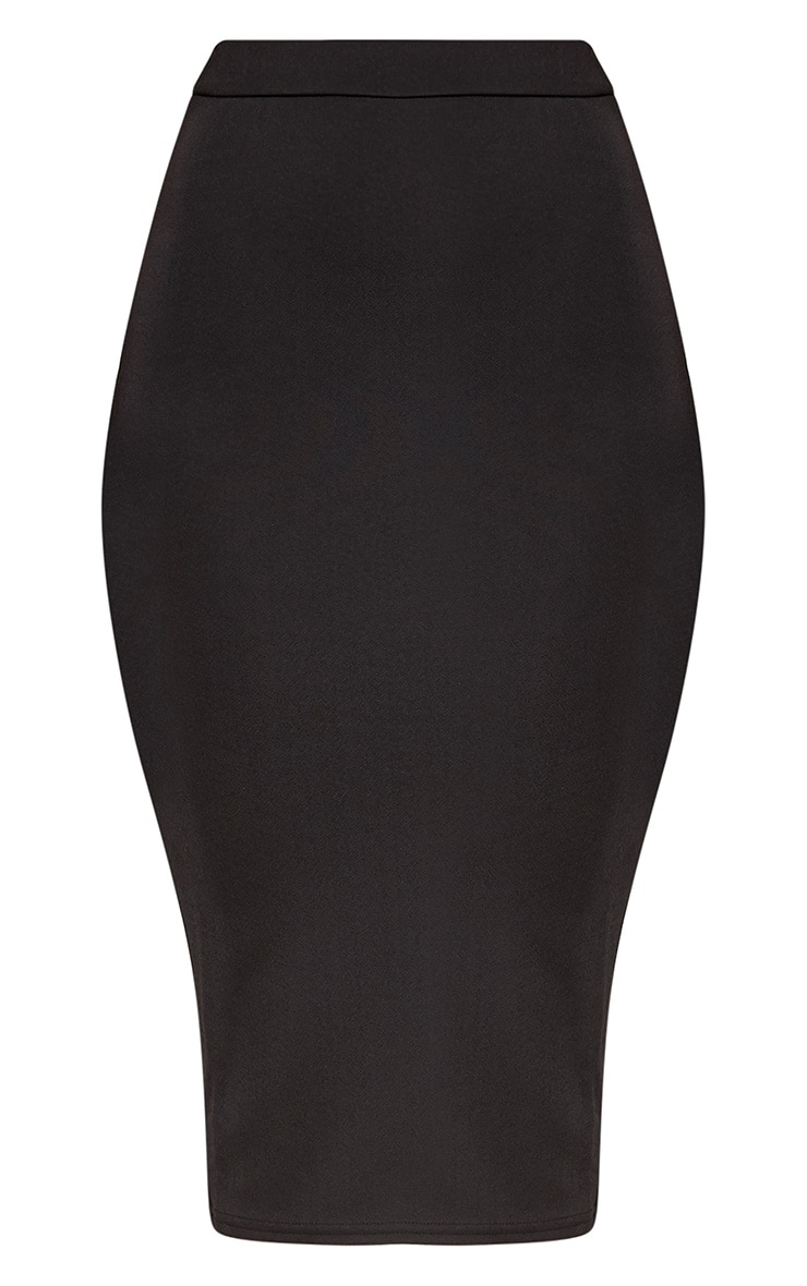 Lacy jupe midi noire en crêpe 3