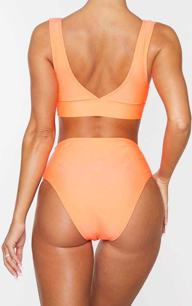 Coral Mix & Match High Waist Bikini Bottoms 3
