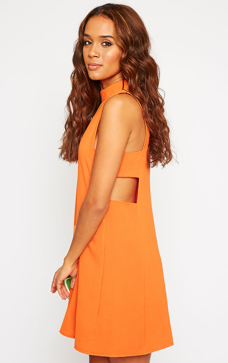 Rina Orange Cut Out Tabard Dress 1