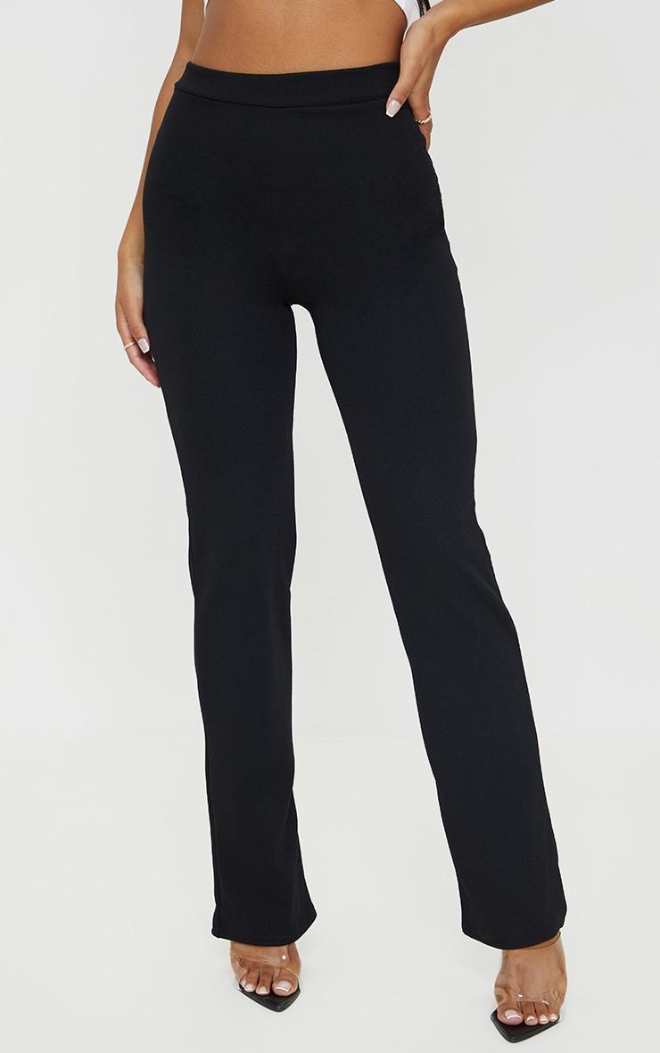 Black Straight Leg Suit Trousers 2