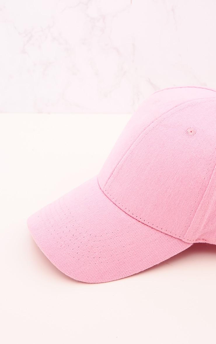 Pink Woven Baseball Cap 5