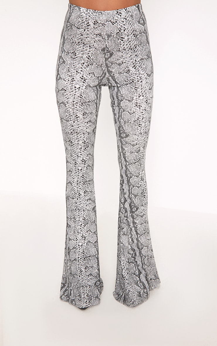 Madilyn Snake Print Flared Trousers 2