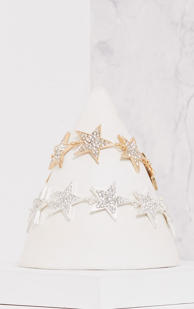 Mirabel Two Pack Diamante Star Choker 3