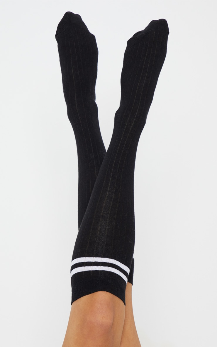 Black Knee High Referee Socks 1