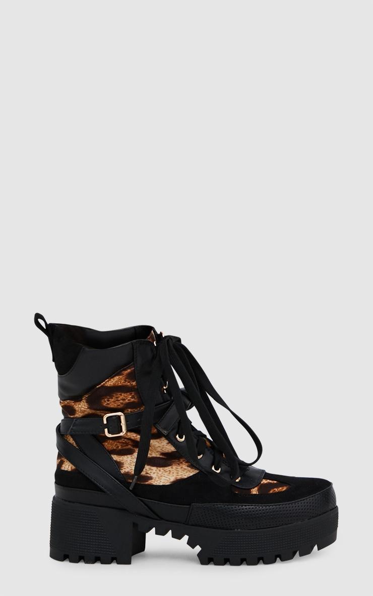 Leopard Print Biker Boots 3
