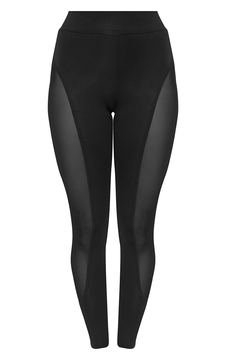 Saskia Black Mesh Side Panel Leggings 3