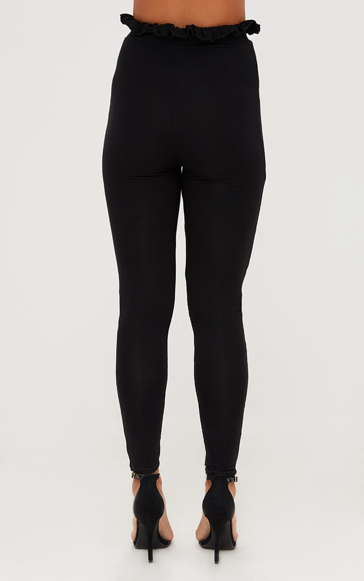 Black Paperbag Leggings 4