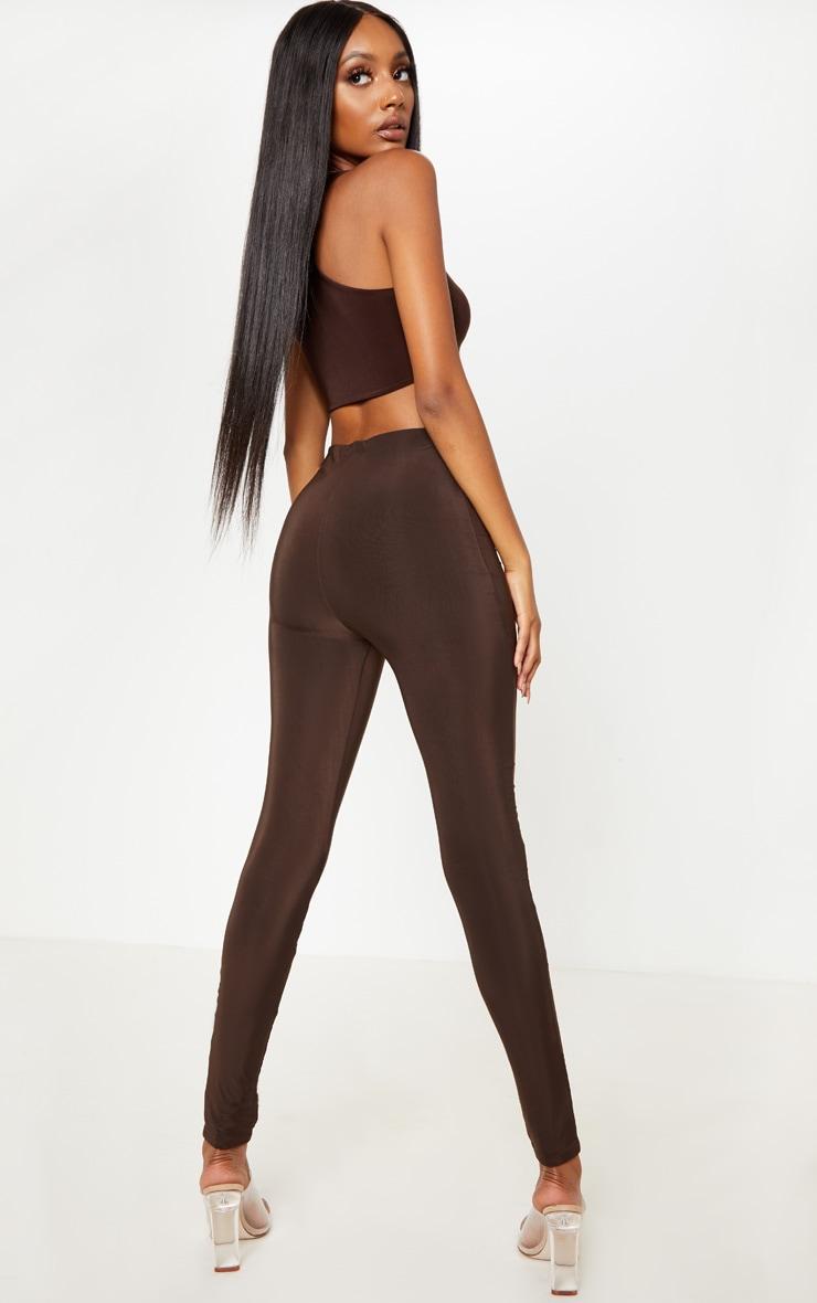 Chocolate Second Skin Slinky Leggings