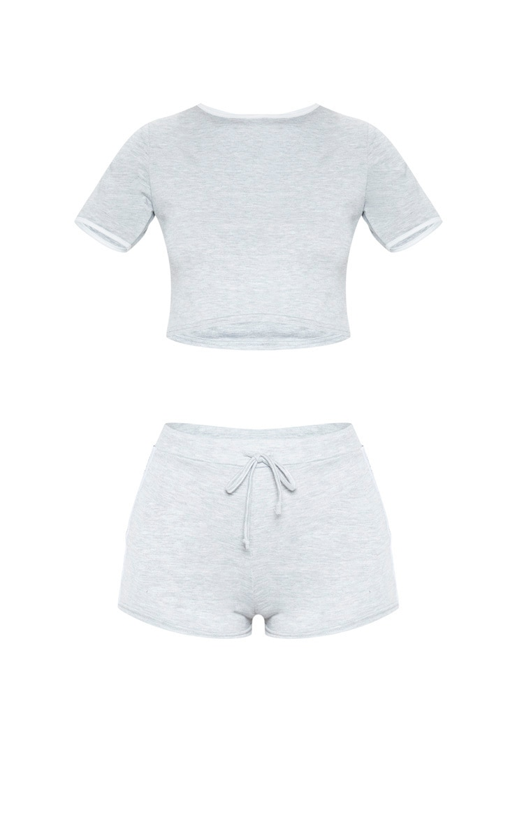 PRETTYLITTLETHING Grey PJ Short Set 3