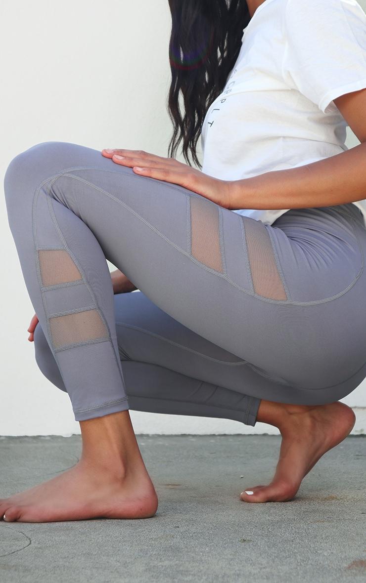 PRETTYLITTLETHING Grey Sport High Waist Gym Leggings 4