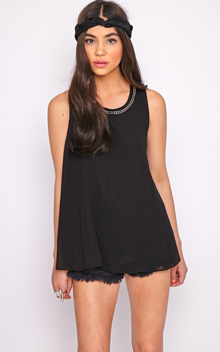 Lizzy Black Studded Swing Vest  3