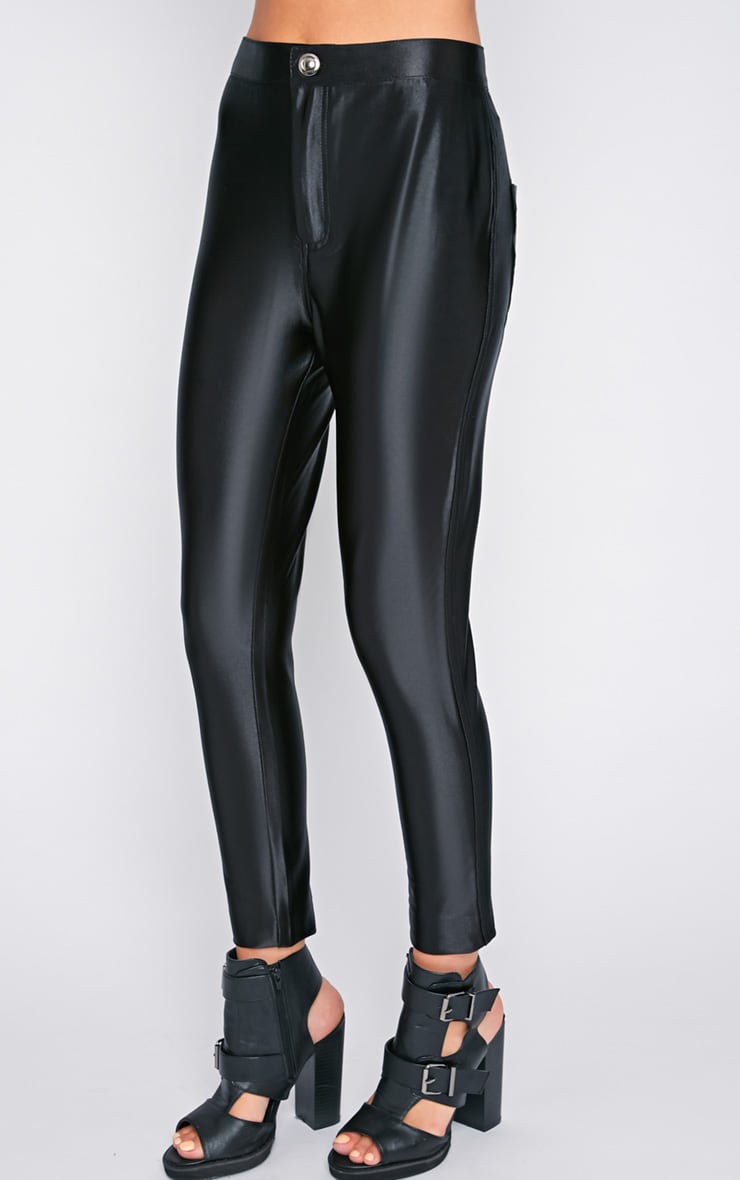 Aarushi Black High Waisted Disco Pants 4