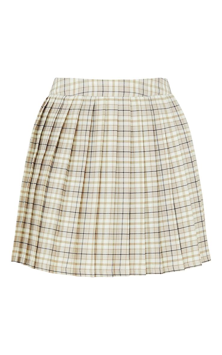 Stone Woven Check Tennis Skirt 6