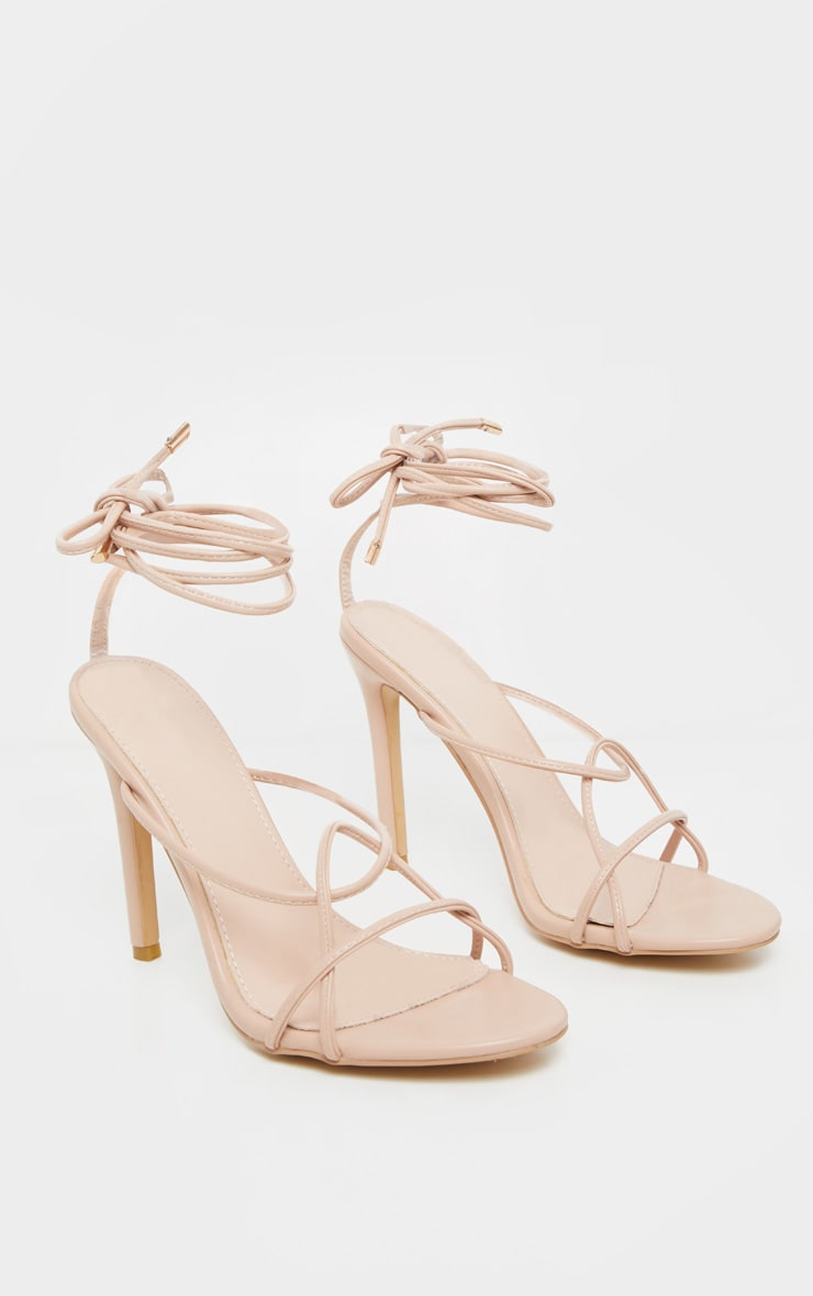 Nude Strappy Tie Sandal 3