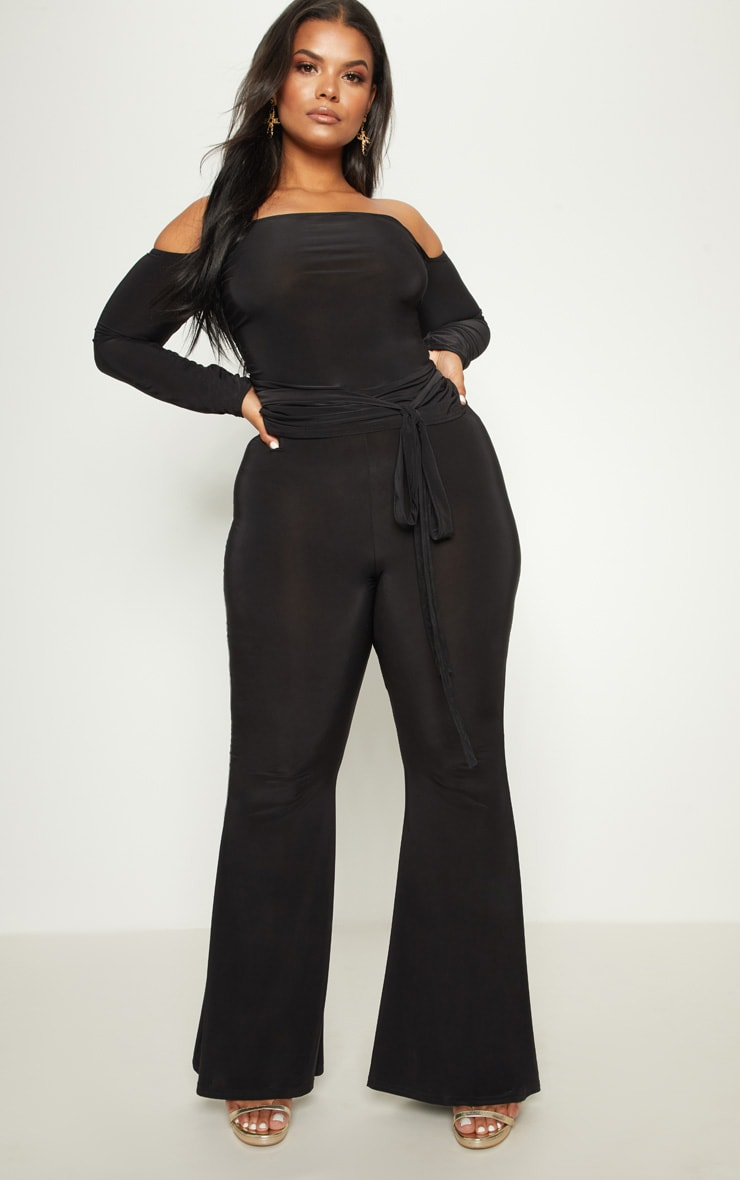 Plus Black Slinky Bardot Top 4