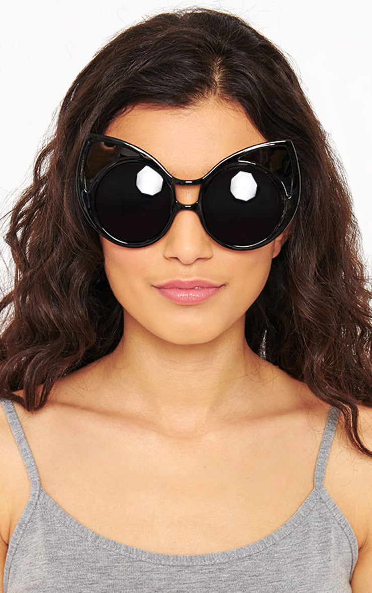 Mimi Black Cat Ear Sunglasses 1