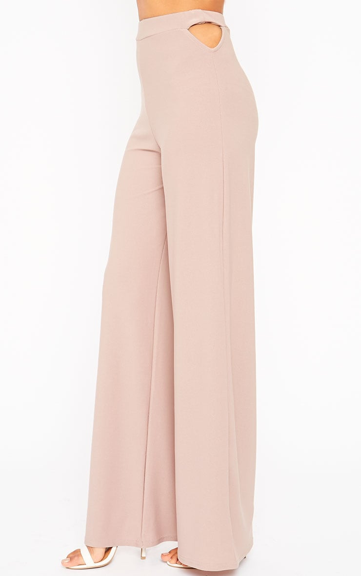 Elphina Dusty Pink Cut Out Palazzo Trousers 6
