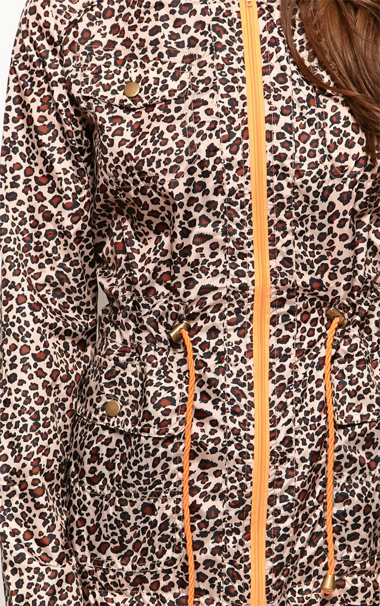 Finola Leopard Print Raincoat 4