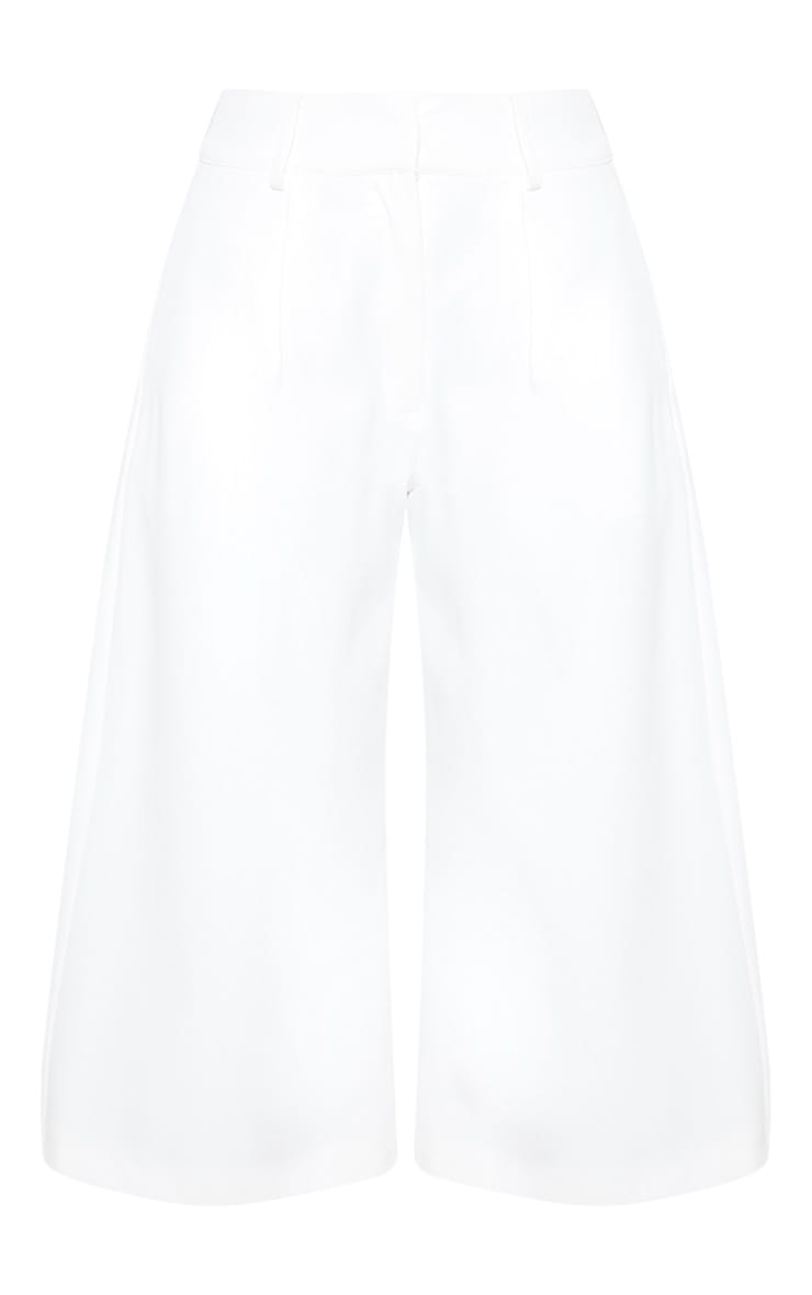 White High Waisted Culottes 4