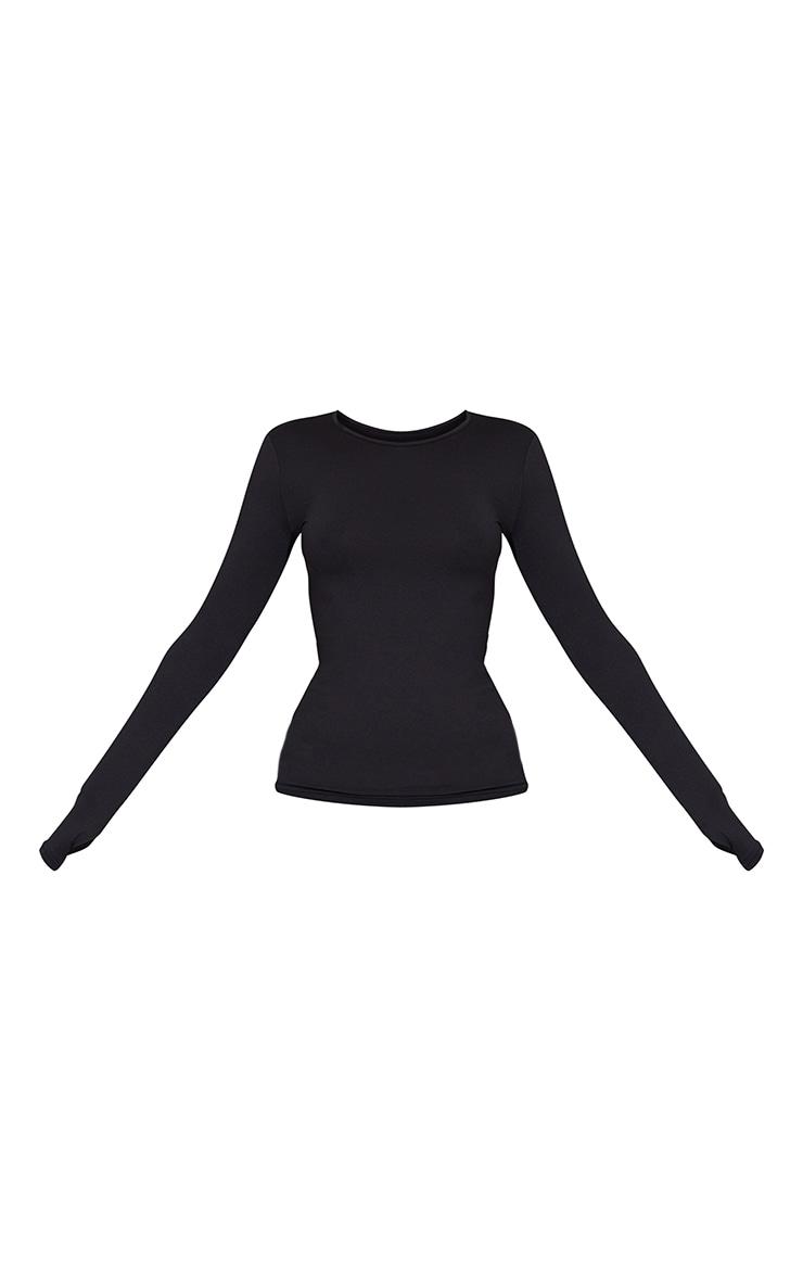 Black Long Sleeve Gym Top 5