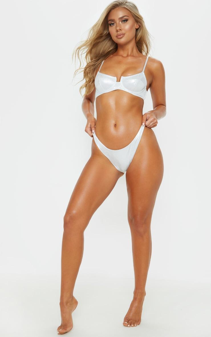 Silver Glitter Mini Front Bikini Bottom 5