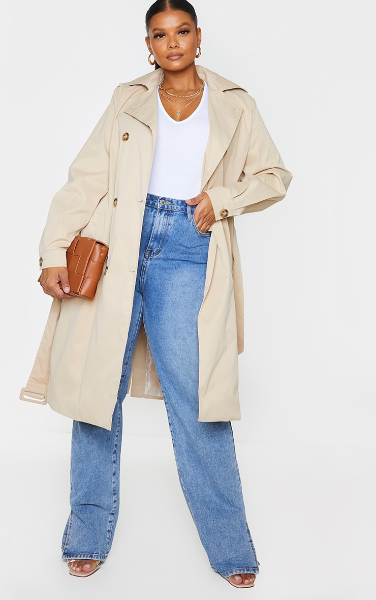 Plus Stone LightWeight Belted Trench Coat 1