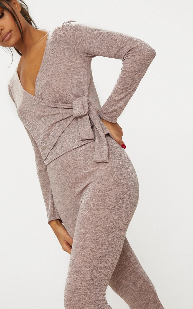 Pink Wrapover Knitted Co Ord Set 5