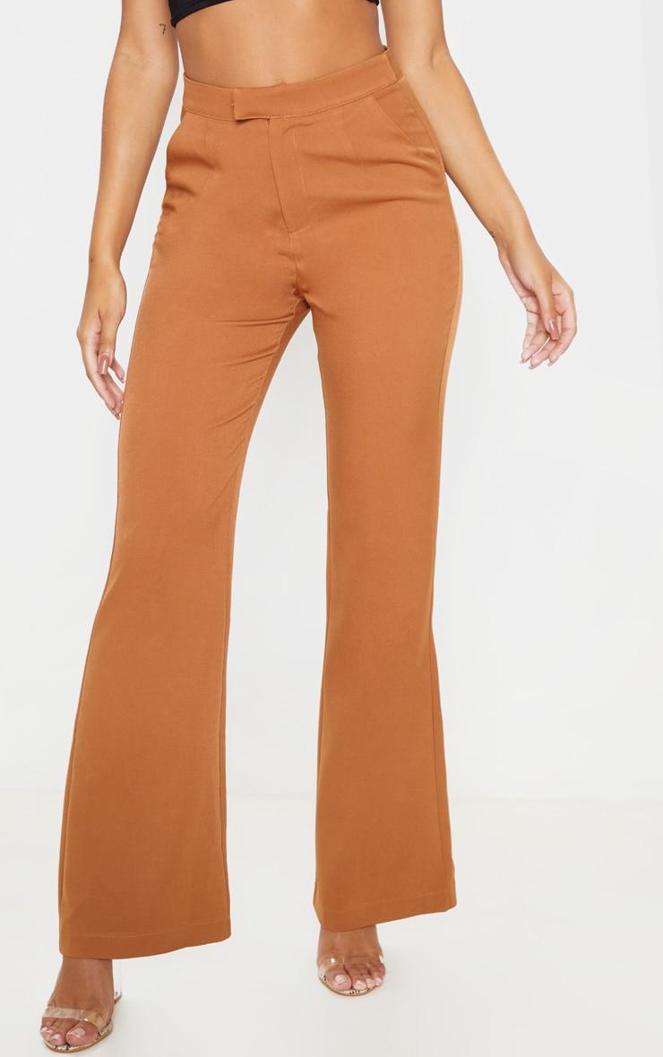 Camel Flared Pants  2