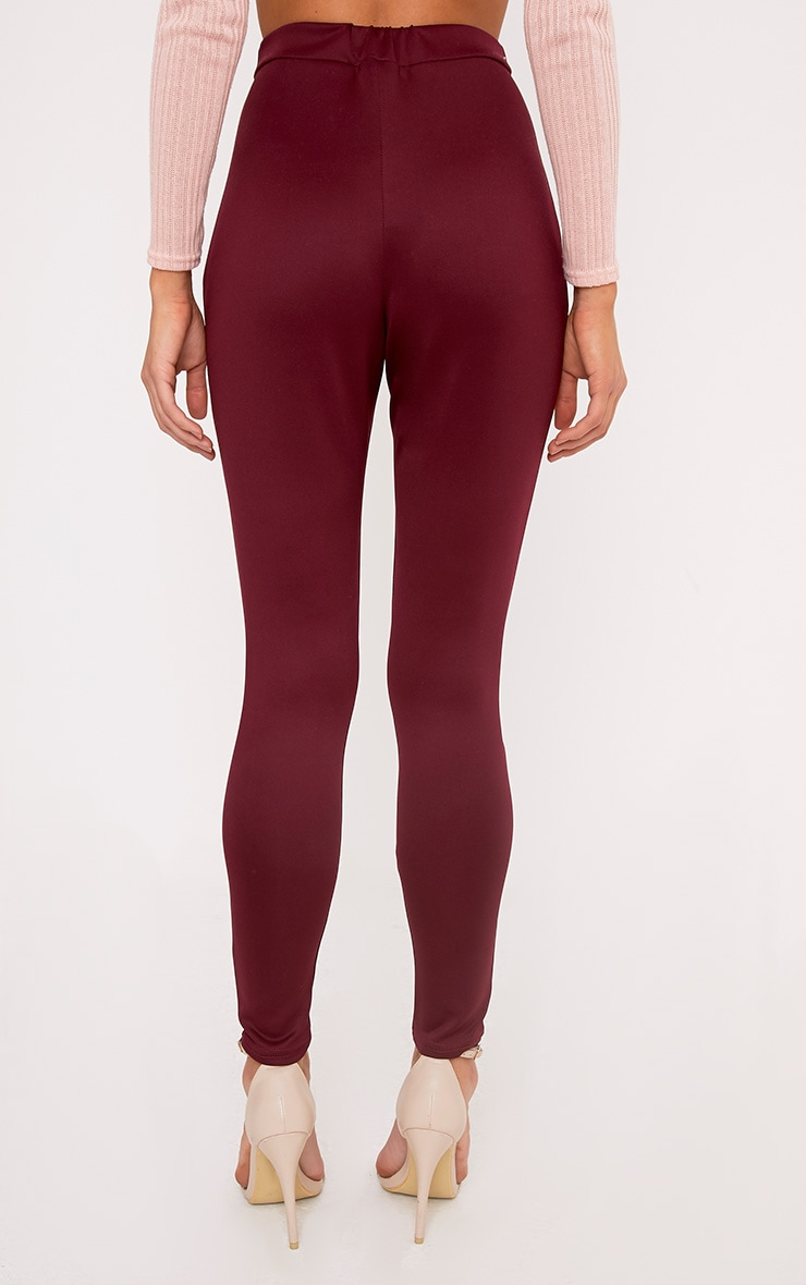 Larena Berry Front Seam Skinny Trousers 4