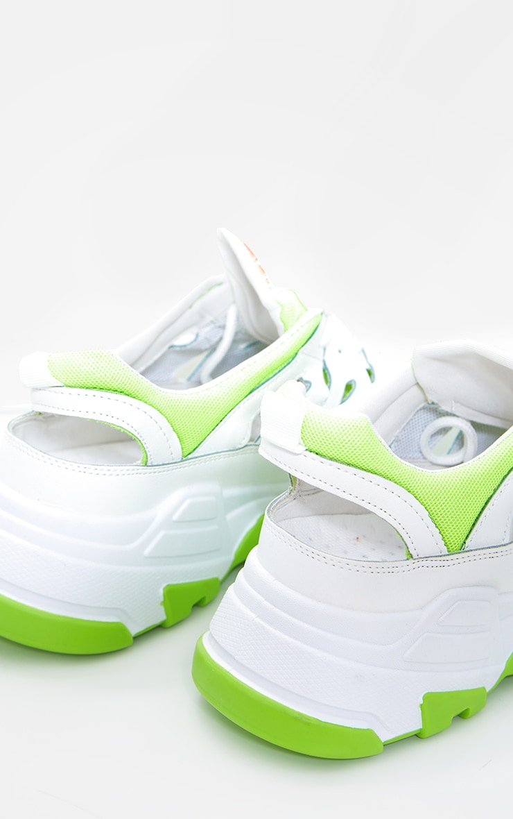 Lime Chunky Sole Detail Trainers 3