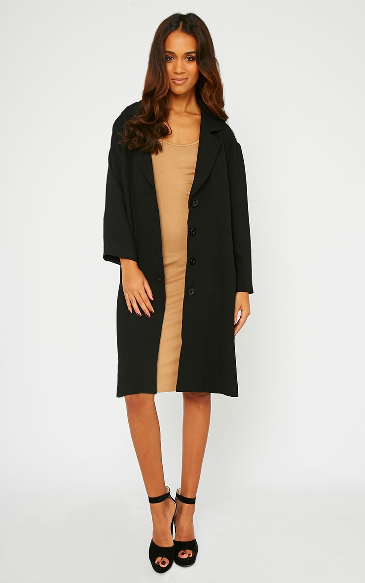 Lucia Black Lightweight Boyfriend Coat  1