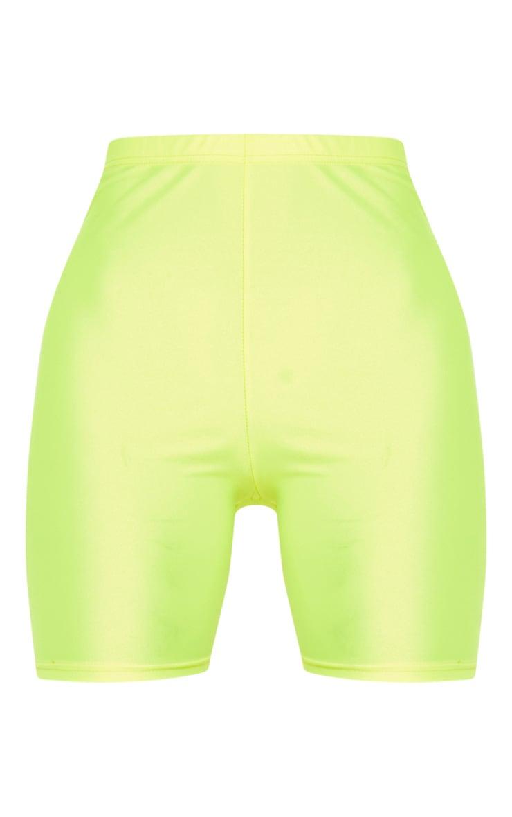Yellow Neon Cycling Shorts 4
