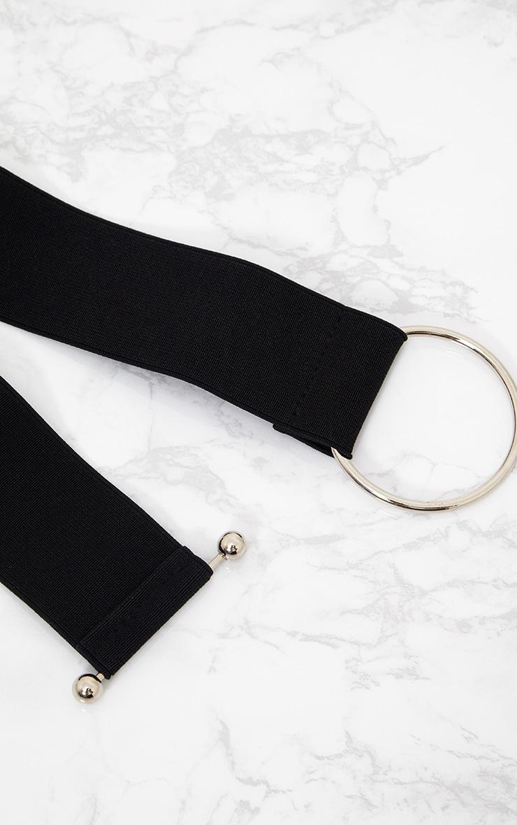 Black Bar Clasp Waist Belt 4