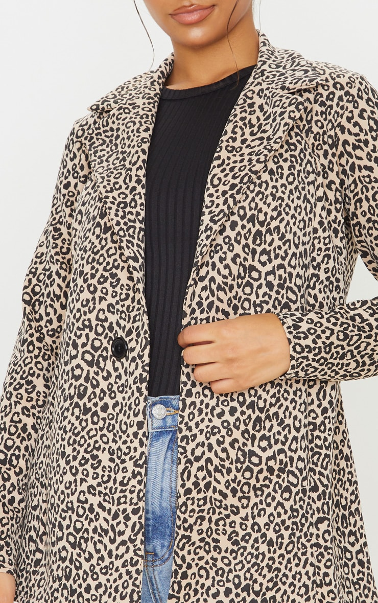 Brown Leopard Boyfriend Blazer 5